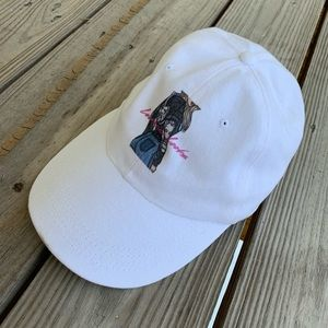 Accessories - Leonessa Looks White Denim Baseball Cap